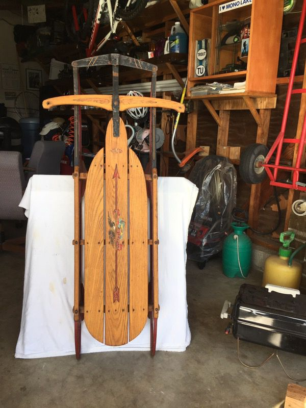Flexible Flyer Snow Sled 55 Airlinechief Early 1950s Not Restored