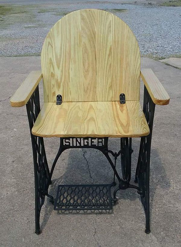 Vintage cast iron singer sewing machine base converted to a chair open in the appcontinue to the mobile website watchthetrailerfo