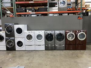 Photo KENMORE ELITE XL CAPACITY WASHER DRYER ELECTRIC STACKABLE 100 DAYS WARRANTY