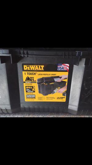 Photo DeWalt tools box. Never used