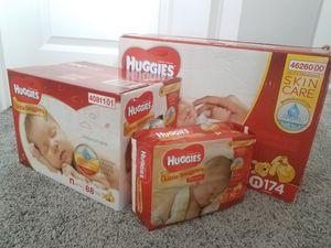 Huggies newborns 30, 88 and 174 for Sale in Salt Lake City, UT