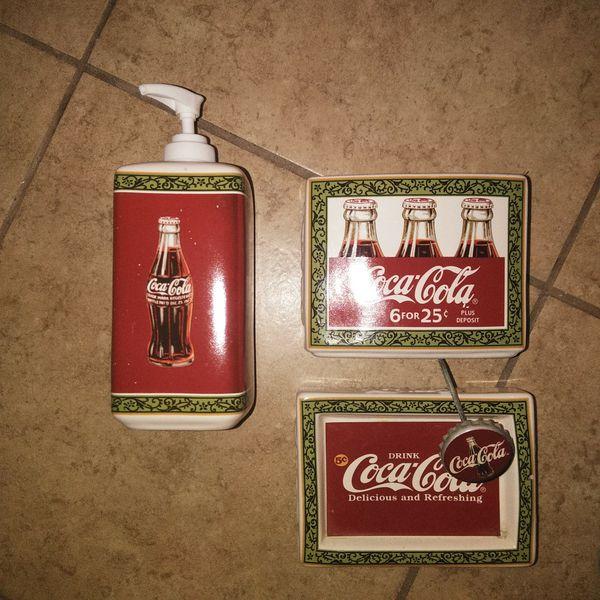 Coca Cola Bathroom Decor.Antique Coca Cola Bathroom Set Perfect Condition For Sale In