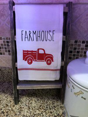 Farmhouse tea towel ladder for Sale in Gilbert, AZ