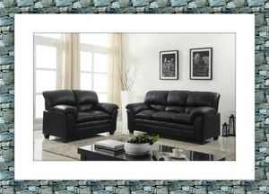 Black sofa and love seat with free delivery brand new for Sale in McLean, VA