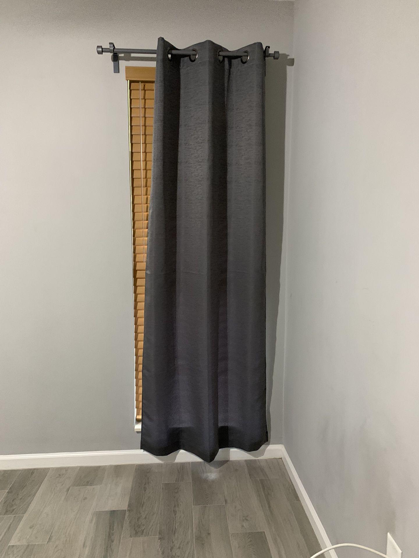 Grey Curtain Panels