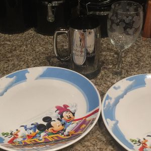 Authentic Disney 1st generation plates and glasses. for Sale in Austin, TX