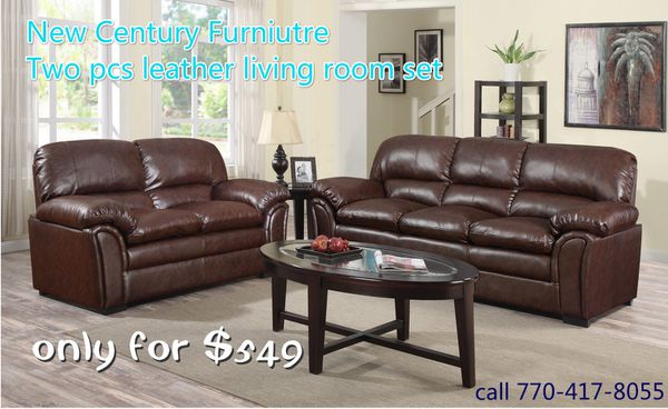 Leather living room set on sale for Sale in Norcross, GA - OfferUp
