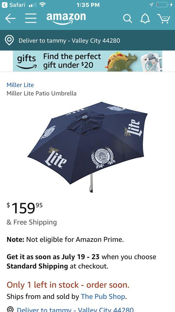 df91624819 Miller lite 7ft patio umbrella for Sale in Medina, OH - OfferUp