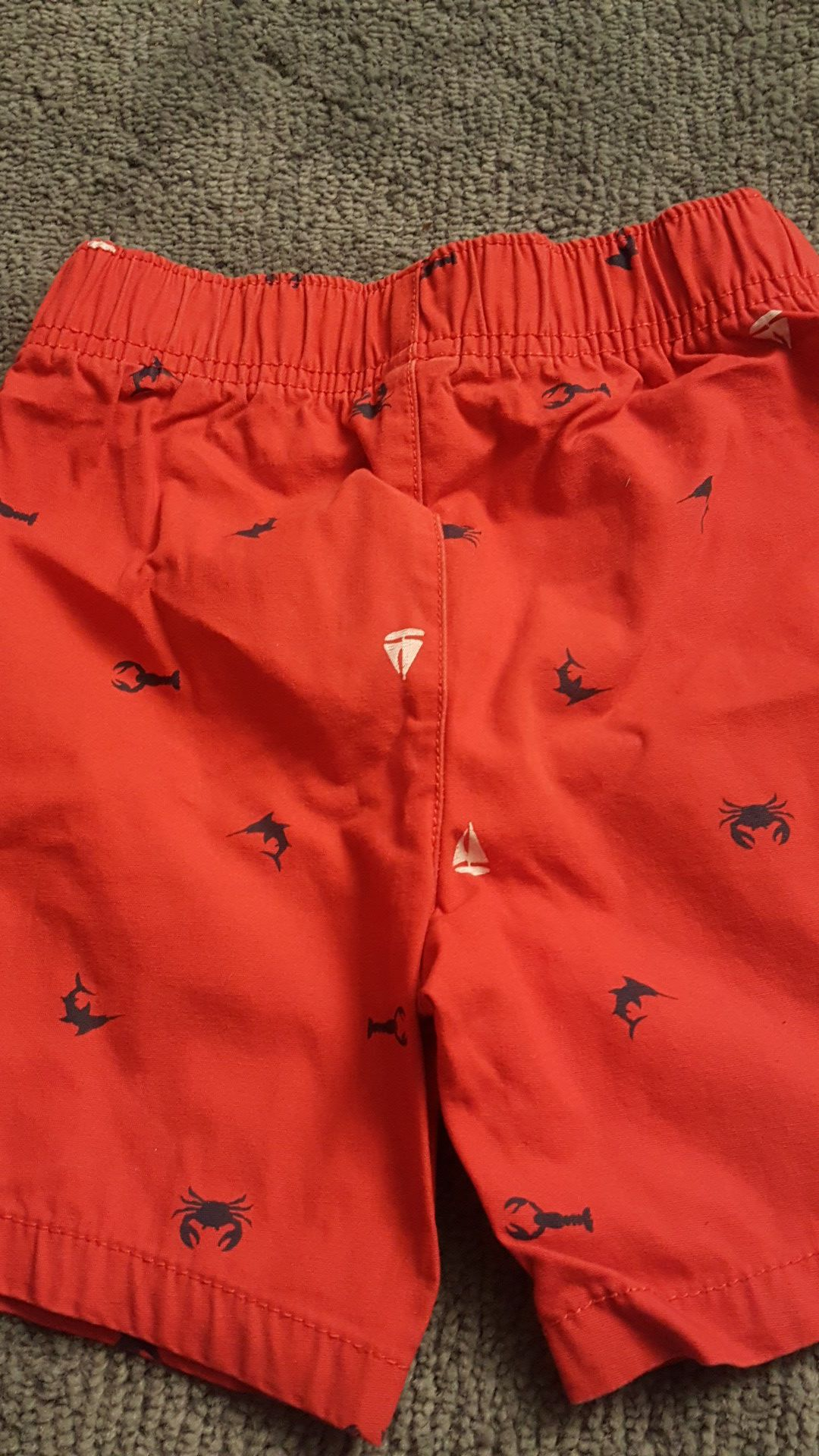 Red shorts size 4t
