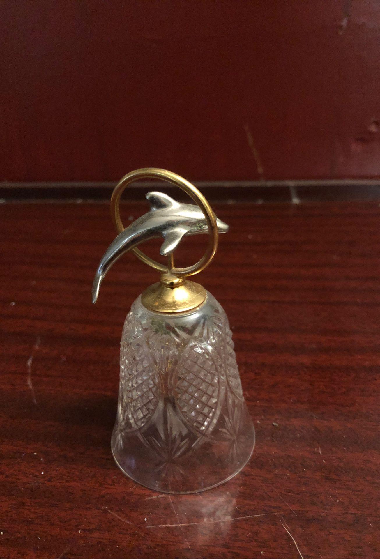 Brass/Silver Crystal Dauphin Bell