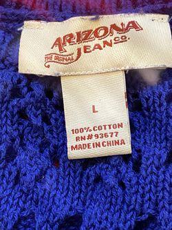 Royal Blue knit tank top with fringe bottom Thumbnail