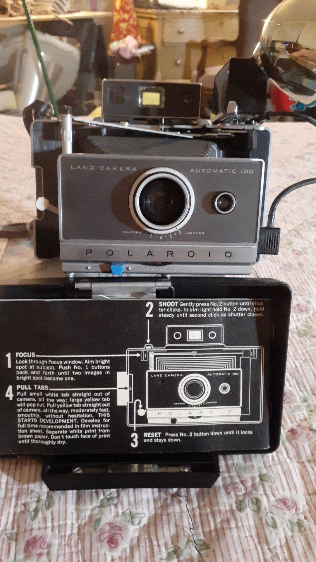 Vintage Polaroid Land Camera Automatic 100