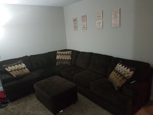 L-Section Chocolate Expresso Couch for Sale in Charlottesville, VA