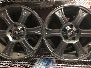 Sport Edition black 18 inch wheels 5x120 for any car's, SUV. 5lug 5x120 BMW, Camaro, Acura MDX, Honda Odyssey, & Sianna, for Sale in Manassas Park, VA