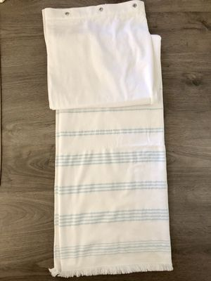Beautiful Linen bottom fringe shower curtain for Sale in Apex, NC