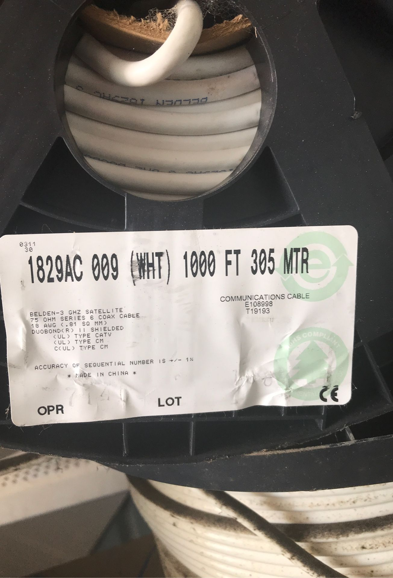 Cat 5 cable 1000ft rolls selling all for $125