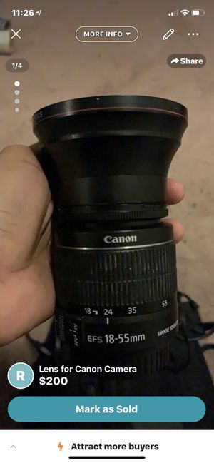 Lens for Canon Camera for Sale in Spencerville, MD