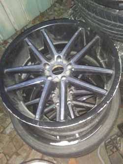 I have 3 of these rims 20 inch all 3 need tires lug pattern 5x114 Thumbnail