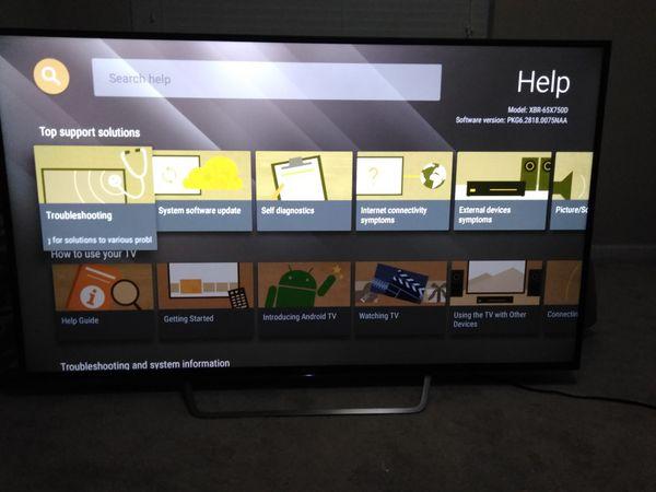 Sony 4k Tv UHD 65 Inch XBR 65X7500 for Sale in Suffolk, VA - OfferUp