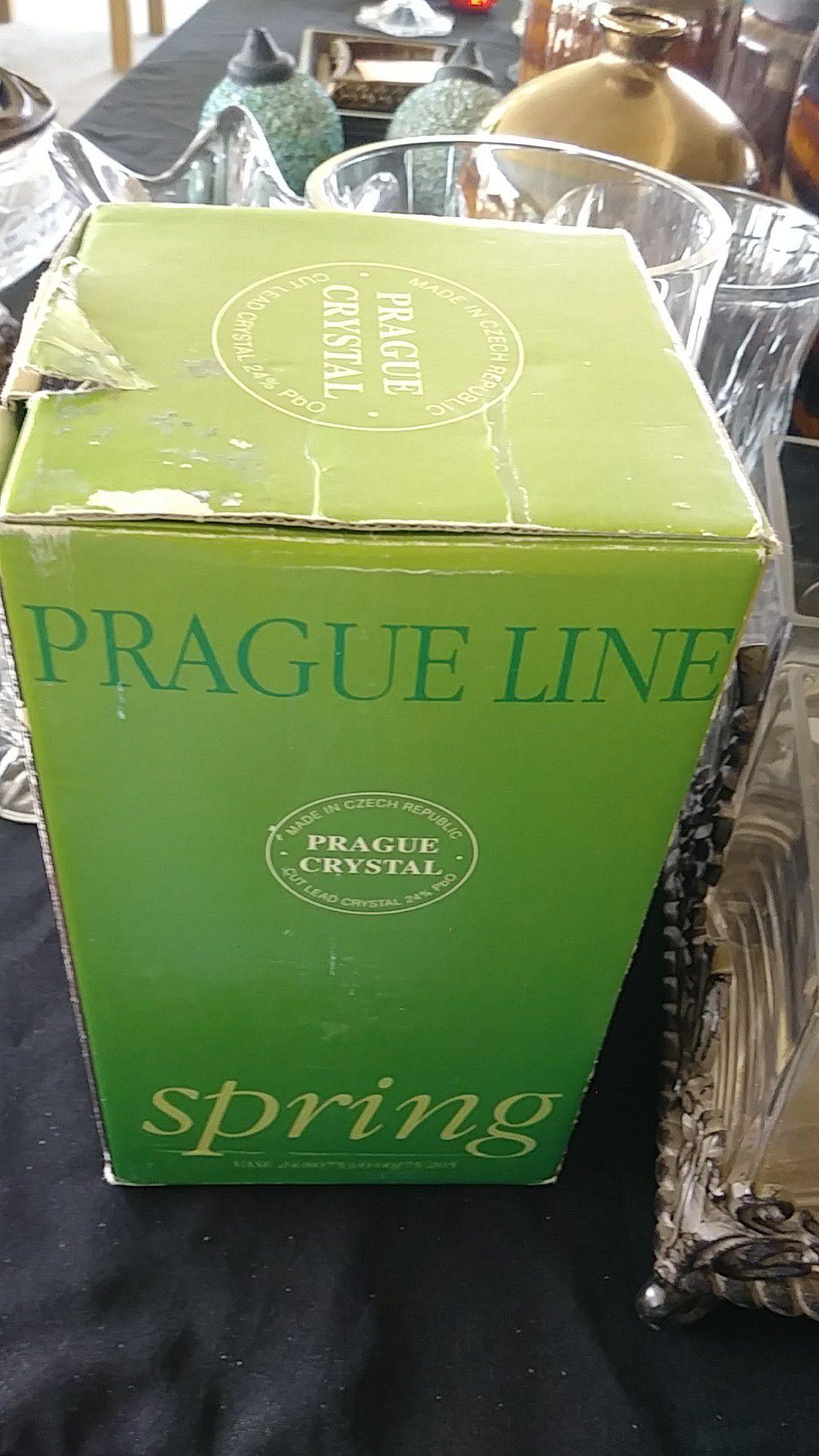 Prague crystal vase