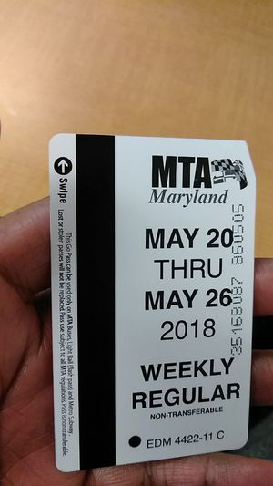 Weekly bus pass for Sale in Baltimore, MD