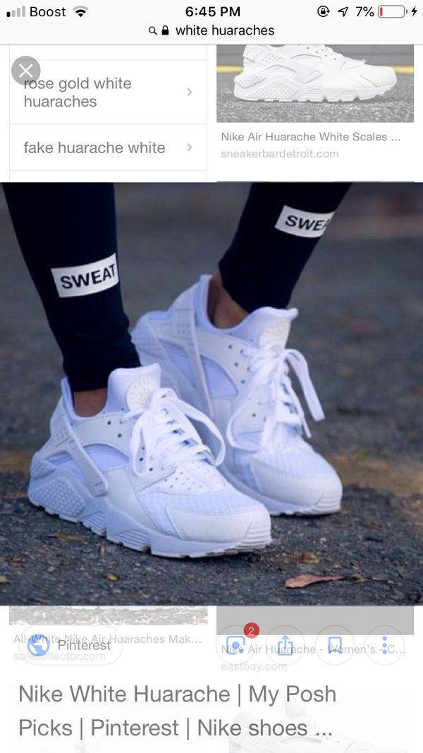 san francisco 2acd3 118c7 white huaraches for Sale in Cleveland, OH - OfferUp