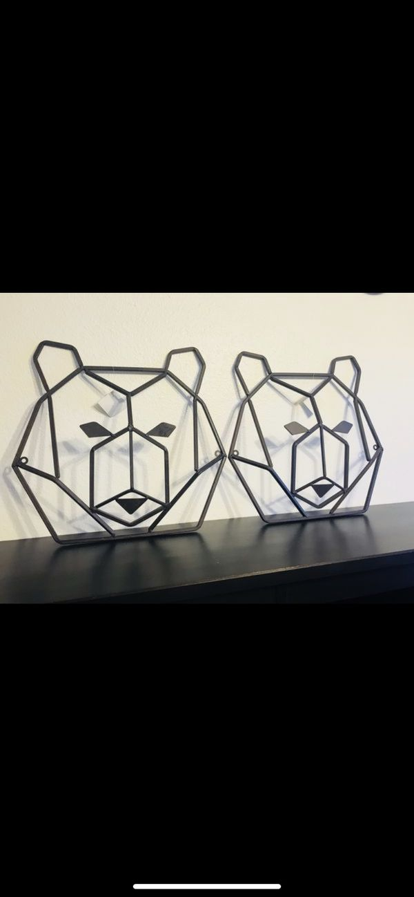 3311db86aa 2 Bear Heads Metal Wall Decor for Sale in Arvada, CO - OfferUp