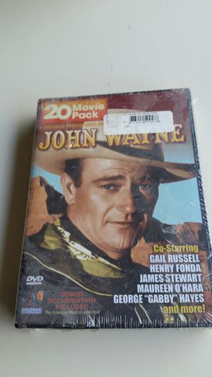 Sealed never opened 20 movie pack of John Wayne movies for Sale in Cary, NC