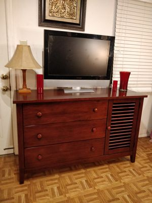 """Nice solid wood dresser/buffet/TV stand with big drawers in very good condition, all drawers sliding smoothly. L56""""*W29""""*H34"""" for Sale in Annandale, VA"""