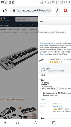 M-Audio Keyrig 49 MIDI keybord. beatmaker Thumbnail