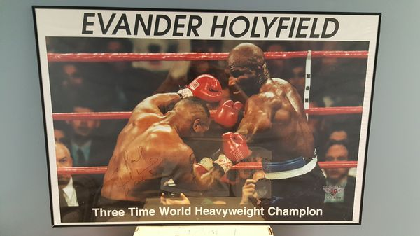 Evander Holyfield Larry Holmes Autographed Posters for Sale