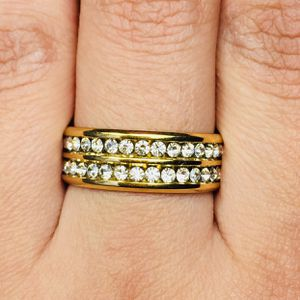 Gold Tone stainless steel ring band unisex for Sale in Silver Spring, MD