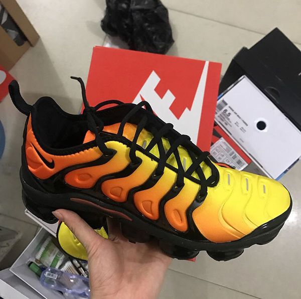 05e96834887 Nike Air VaporMax Plus Black Orange Crimson for Sale in Halethorpe ...