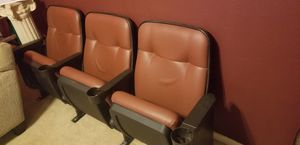Movie theater seats Also have a 4 seater have about 10 rows for Sale in Houston, TX