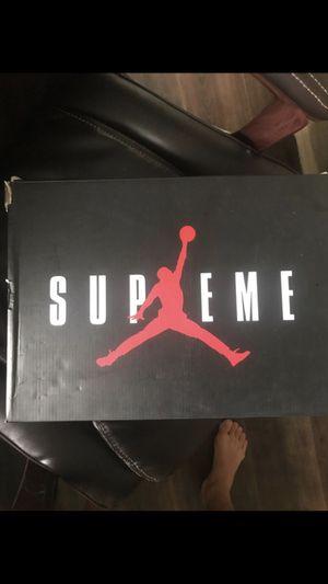 Supreme x Jordan 5 deadstock (never worn) size 11 for Sale in Vienna, VA