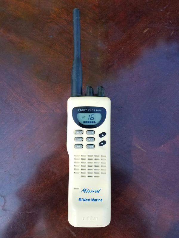Mistral Marine VHF (waterproof handheld CB) Radio from Uniden & West Marine  for Sale in Lutz, FL - OfferUp