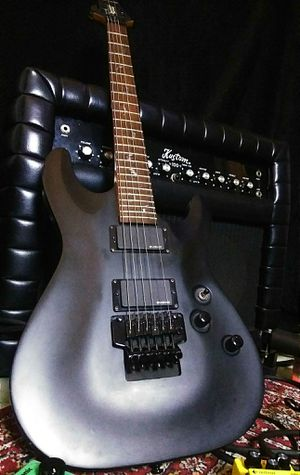 Photo Schecter diamon series flat black electric guitar ! $300 or best offer !!