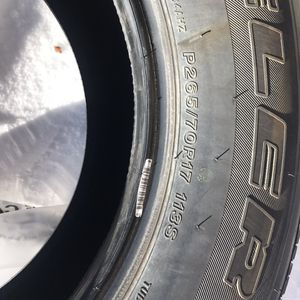 Bridgestone Dueler H/T 684II - 265/70/17 for Sale in Fairplay, CO