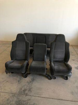 Seats for 2003 f -250 4×4 4 door good shape grey color for Sale in Phoenix, AZ