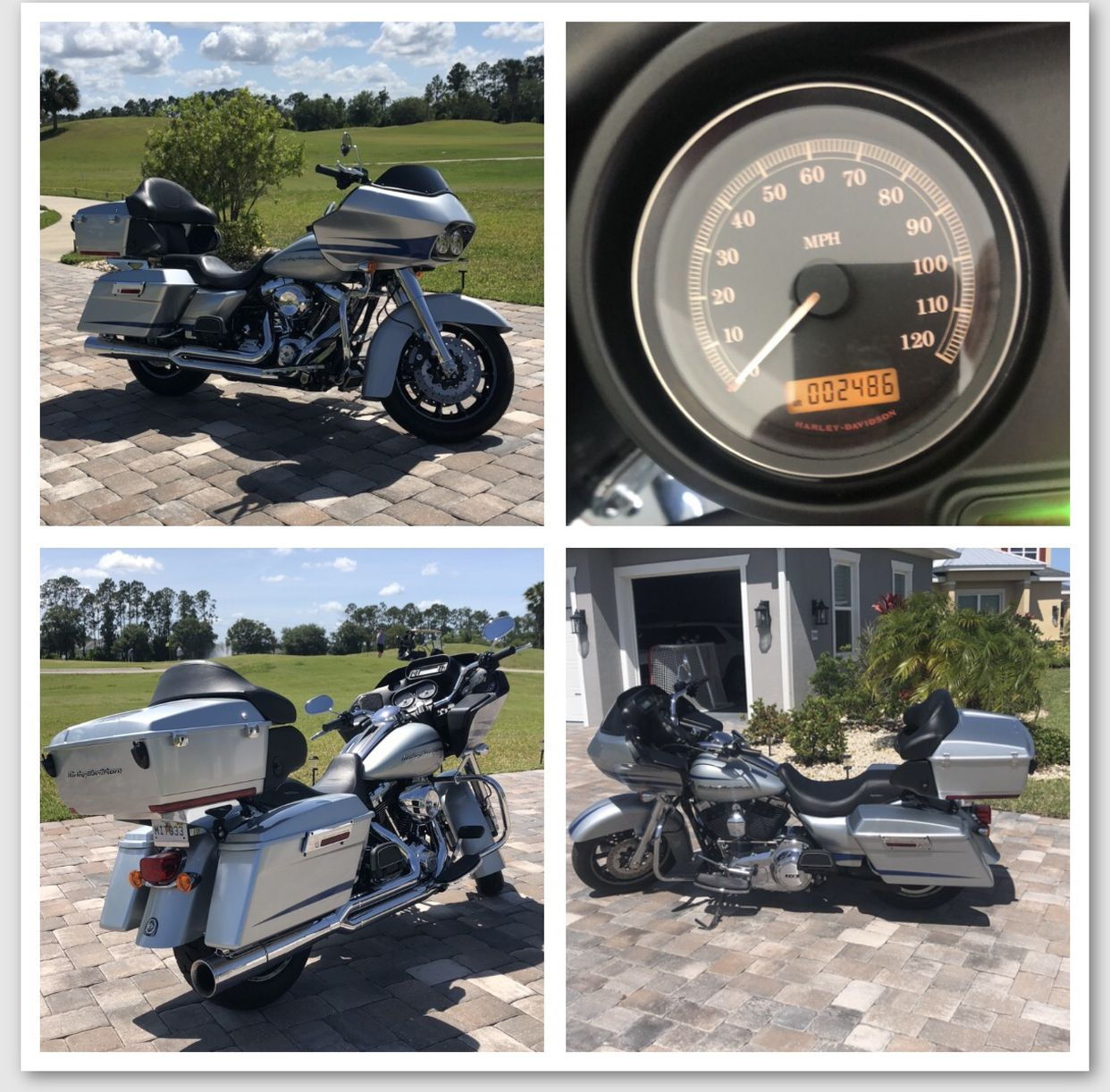 Photo Showroom condition, one owner. 2011 Harley Davidson Road Glide Ultra with 2486 original miles no accidents. Title clean in hand. A must see. Any ques