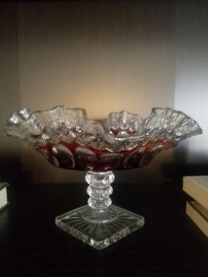 d80e6f86a1c9 Antique stained glass candy dish for Sale in Westminster