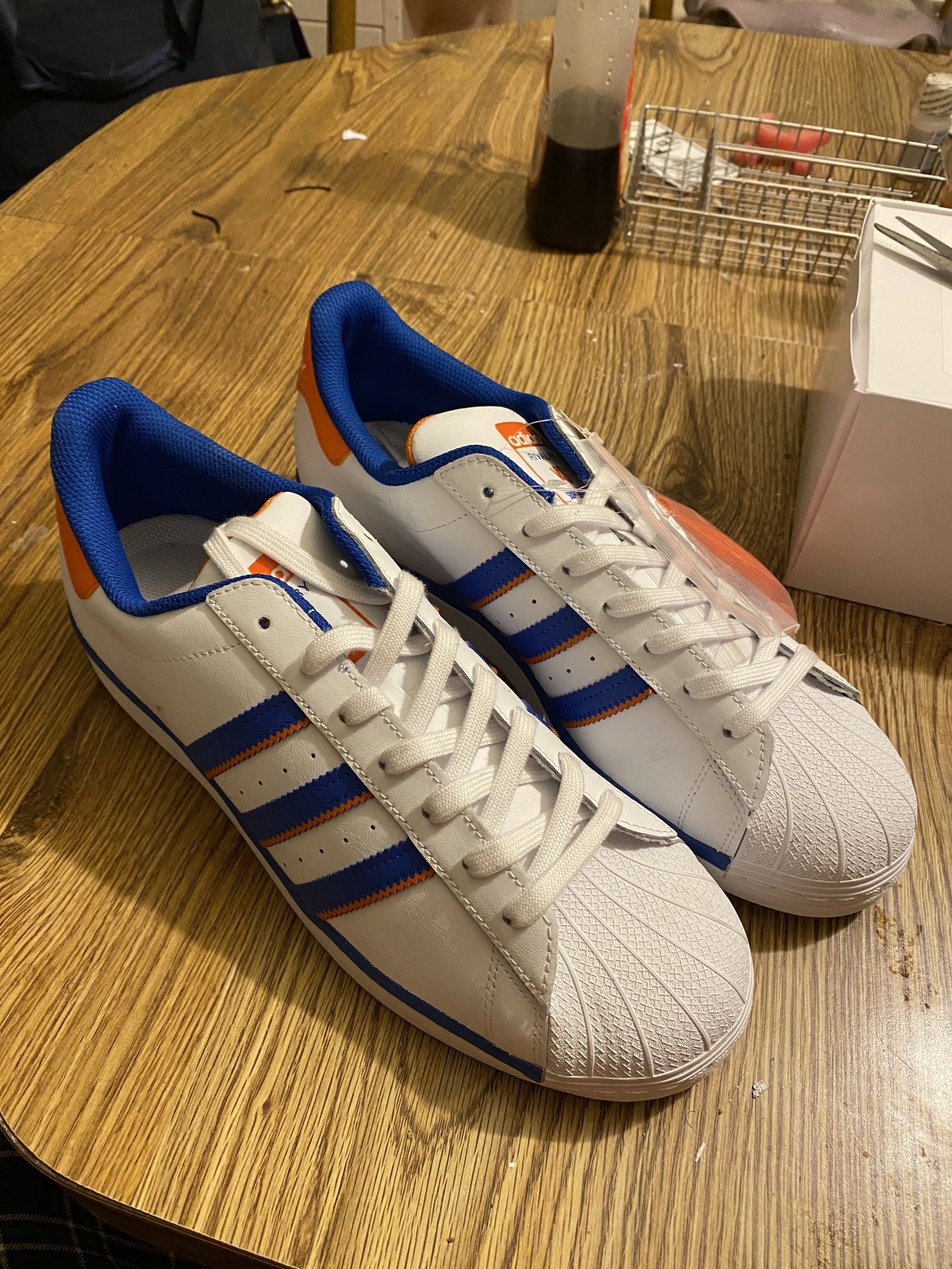 Adidas Superstar with Alternate shoelaces Size 12