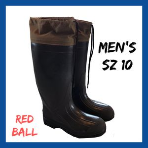 Photo Vintage Men's Red Ball Boots Sz:10