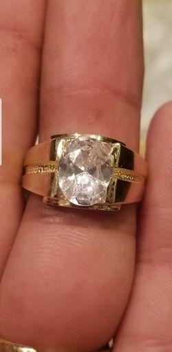 Mens beautiful 14kt gold ring Thumbnail
