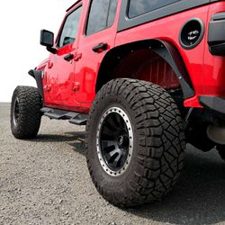 NEW Jeep Wrangler JL, JLU, Flat Top style metal fenders Thumbnail