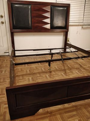Nice wooden Queen bed frame in very good condition, pet free smoke free. for Sale in Annandale, VA
