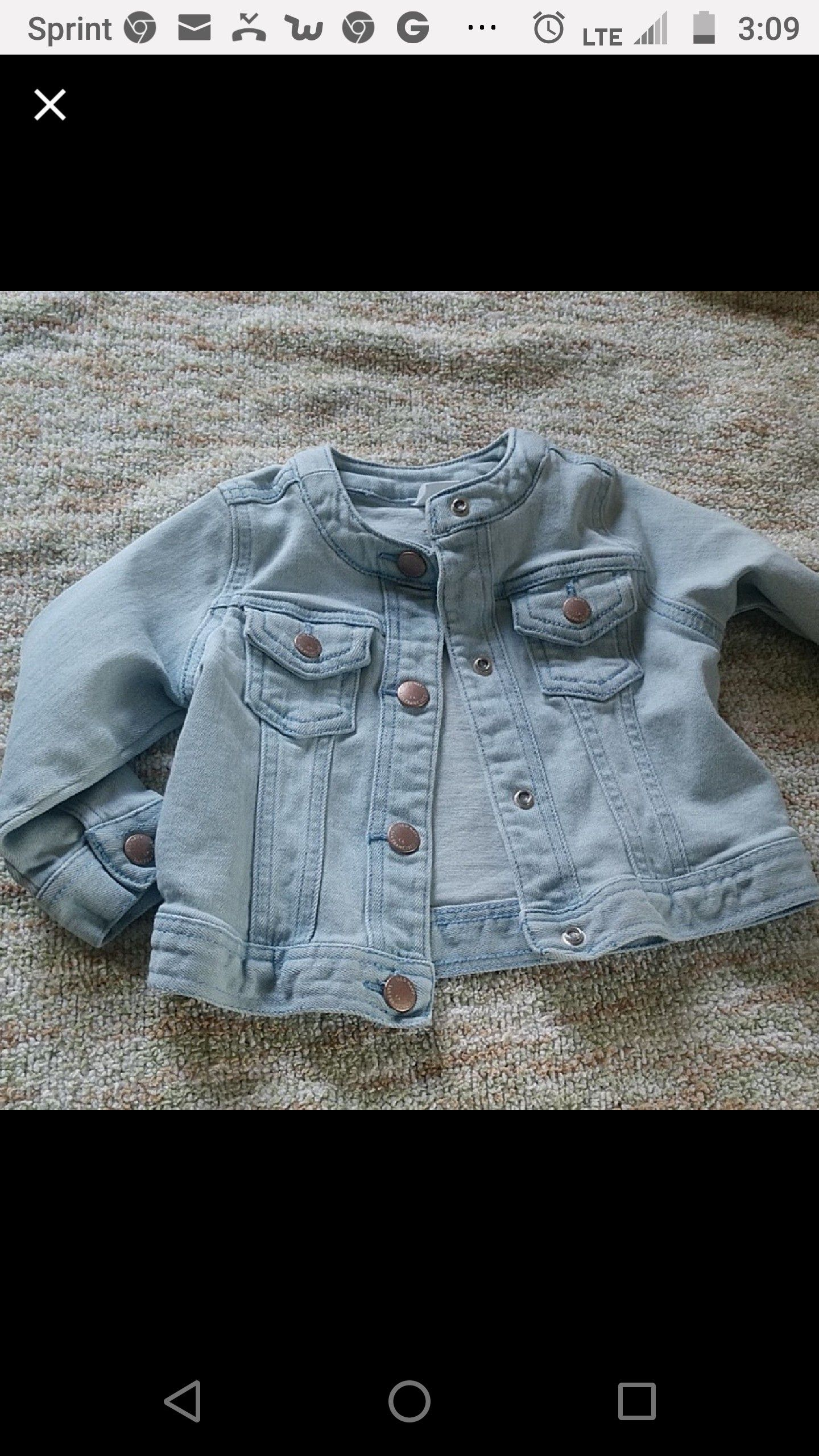 Baby jacket size 12/18 month