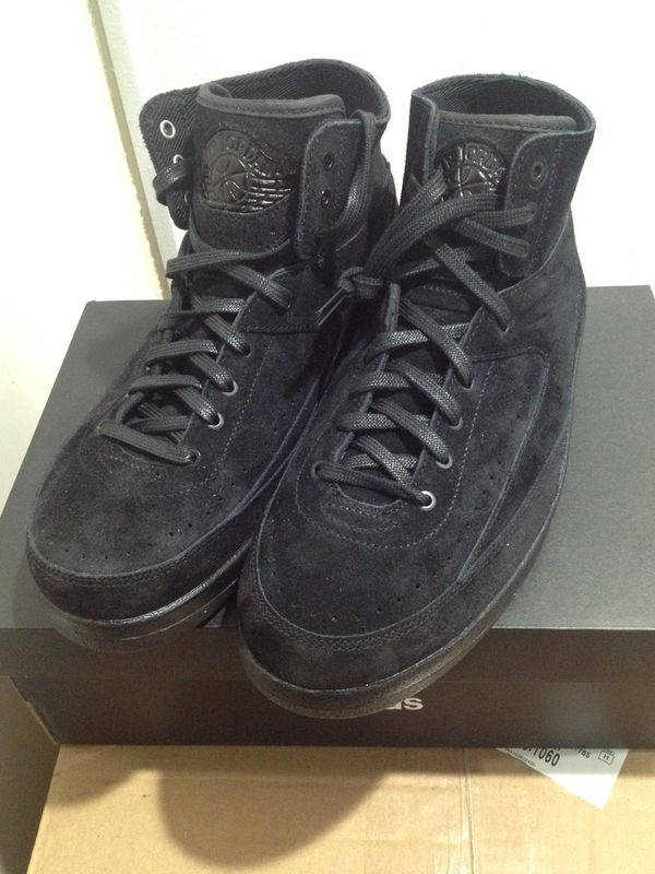 0e72a2fd76a Air Jordan 2 Retro Decon Black Suede Size 9 for Sale in Diamond Bar ...