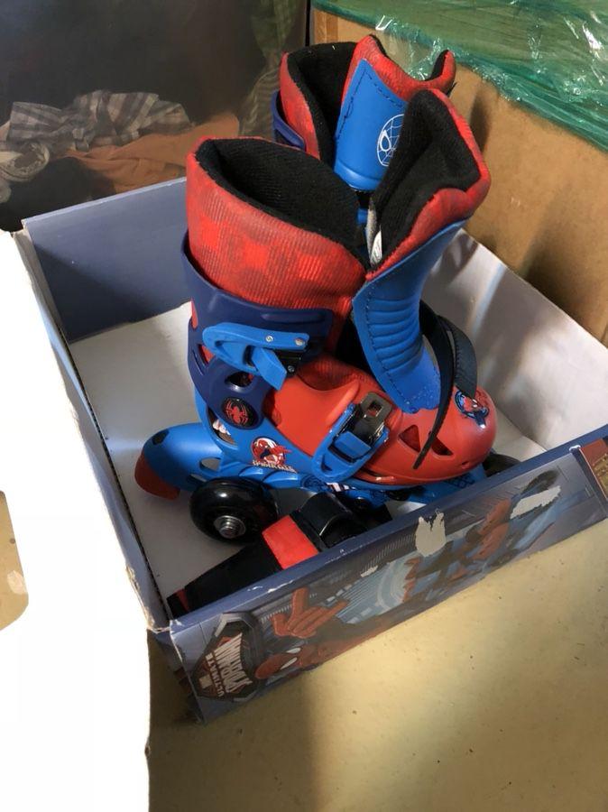 Roller skates and helmet