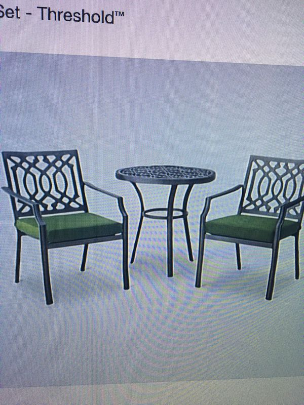 3 Piece Patio Set - Threshold Brand New for Sale in Long Beach, CA - OfferUp - 3 Piece Patio Set - Threshold Brand New For Sale In Long Beach, CA